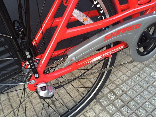 bicicleta urbana - skinred zurich rodado 28 hombre