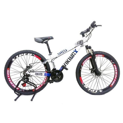 bicicleta vikingx freeride aro 26 freio disco bike bca azul