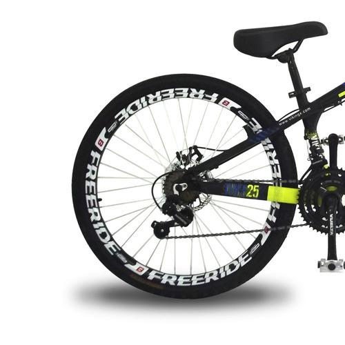 bicicleta vikingx tuff 25 freeride aro 26 freio á disco 21m