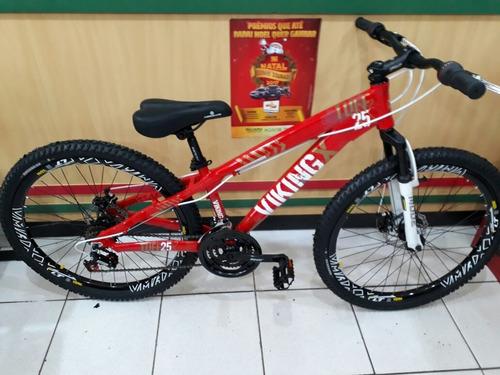 bicicleta vikingx tuff 25 freeride aro 26 lançamento 2018