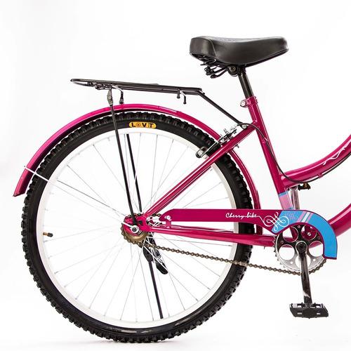 bicicleta vintage 24 kingstone cherry premium c/canasta