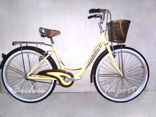 bicicleta vintage de dama aro 26 aluminio cambios shimano