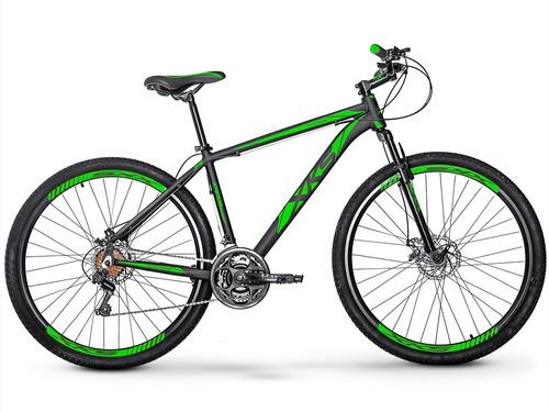 bicicleta xks aro29 a disco 21v câmbios shimano frete grátis