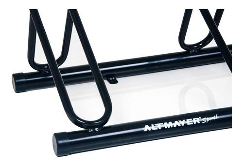 bicicletario de chão ferro 1,5 m altmayer al-89 para 5 vagas