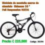 Bicicleta De Montaña Marco De Aluminio Shimano 26 Full Susp