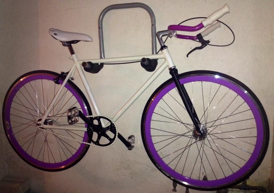 Bicicletas Fixie. Blanco Morado - $ 3,500.00 en Mercado Libre