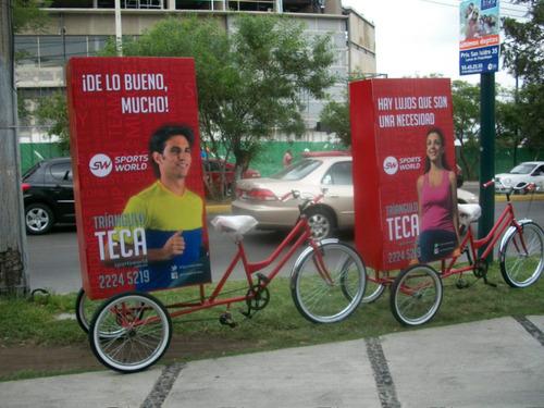 bicicletas publicitarias (publicidad móvil) (bicivallas)