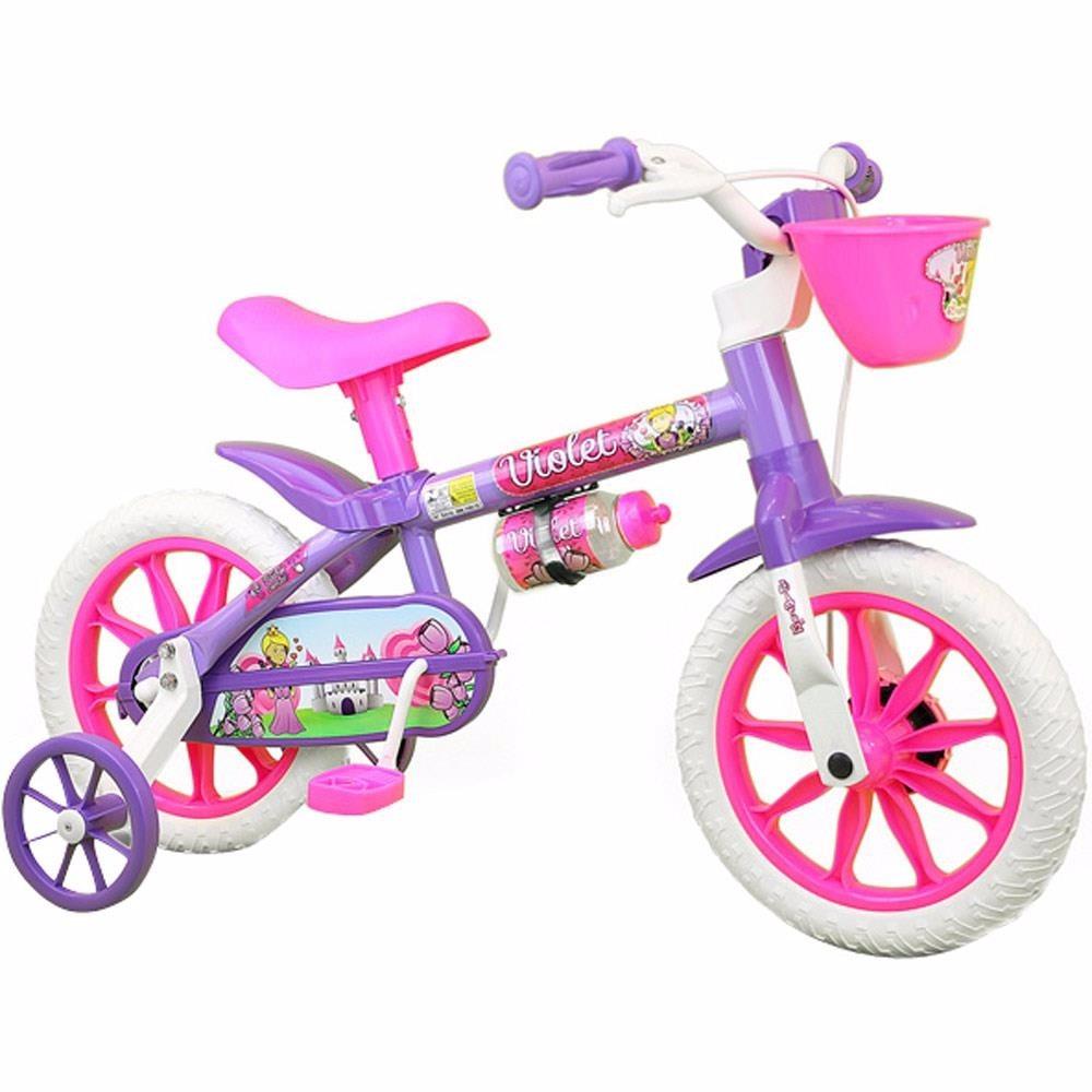 eb773c665 bicicletinha bicicleta infantil menina aro 12 violet nathor. Carregando  zoom.