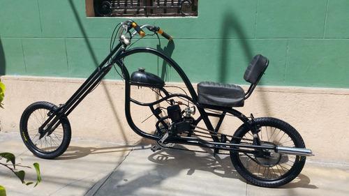 bicimoto chopper - bicicleta con motor 72cc - custom nueva