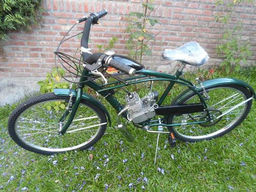bicimoto con frenos v-brakes 0km, motor 48cc bicicleta