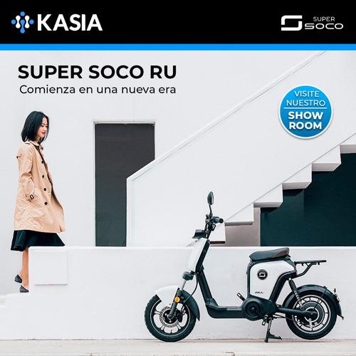 bicleta super soco scooter ru modelo especial pedales nueva