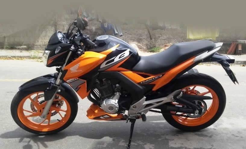 Bico De Pato Cb Twister 250 Motos Design Laranja R 287 00