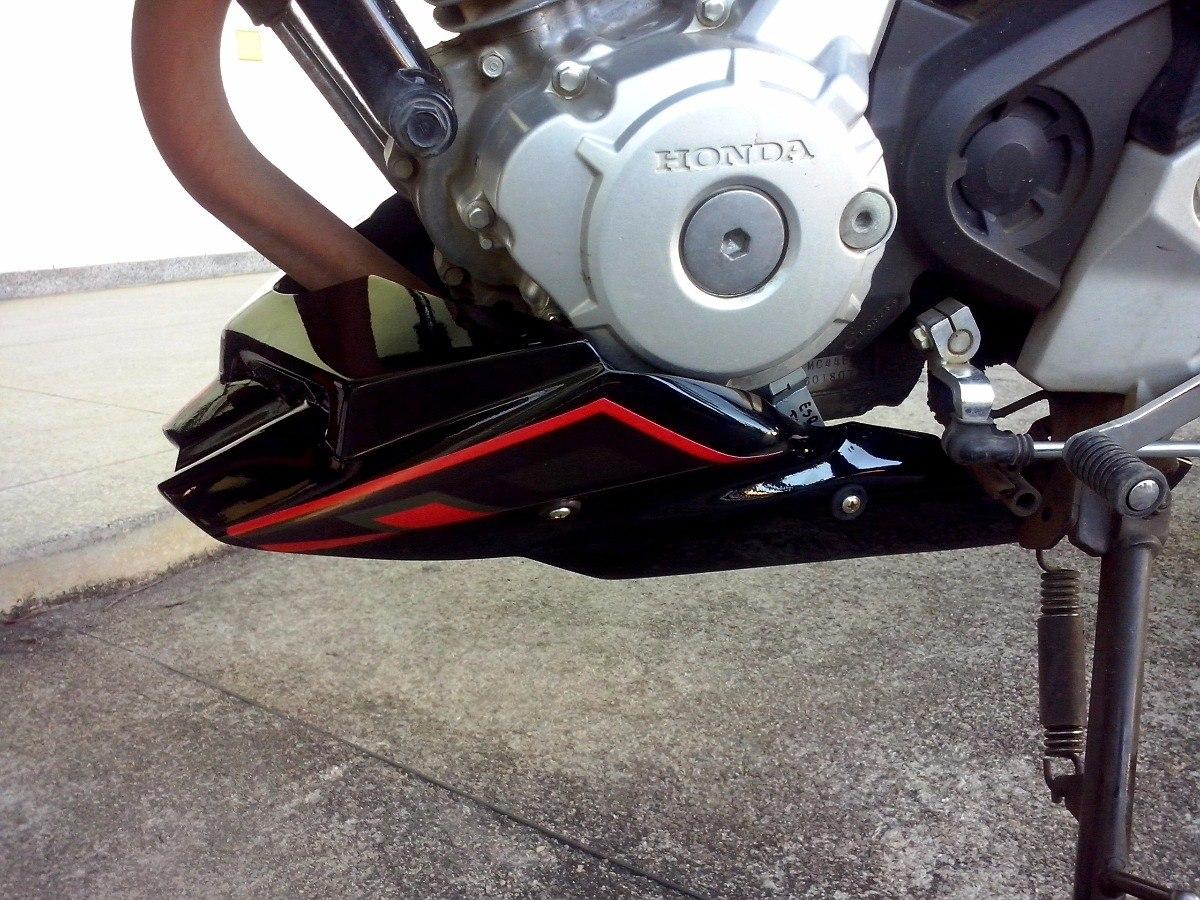 Nova Cb Twister Com Bico De Pato Spoiler Protetor De Motor Youtube