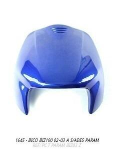 bico frontal biz100 2002 a 2005 azul s/adesivo