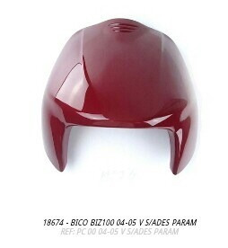 bico frontal biz100 2004 a 2005 vermelho s/adesivo