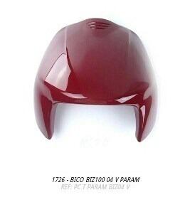bico frontal biz100 2004 verelho s/adesivo