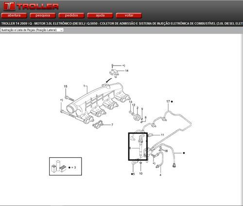 bico injetor de combustivel troller 3.0 novo original