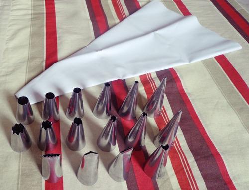 bicos confeitar 16 peças+1 saco p/confeitar + similar 1 m