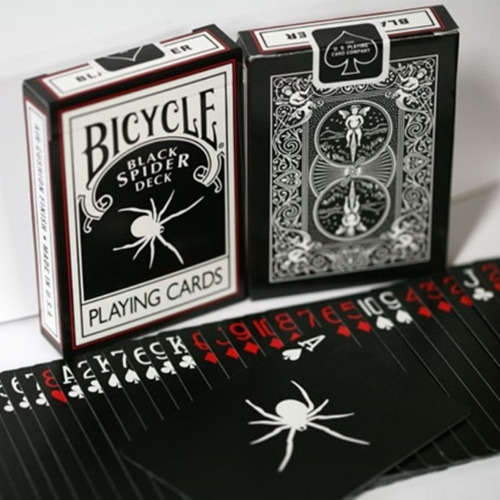 bicycle black spider .mazo de cartas, magia o poker shadow