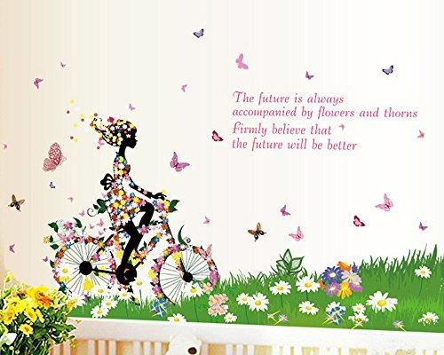 bicycle girl moda personalidad lindo diy vinilo pegatinas d