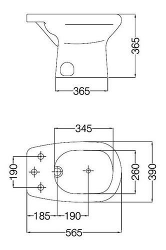 bidet de 1 agujero modelo adriatica bam1j ferrum