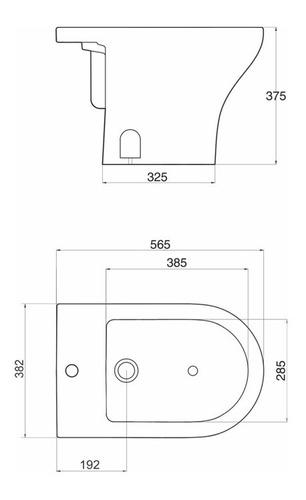 bidet de 1 y 3 agujeros modelo veneto bta1j/b bta3j/b ferrum