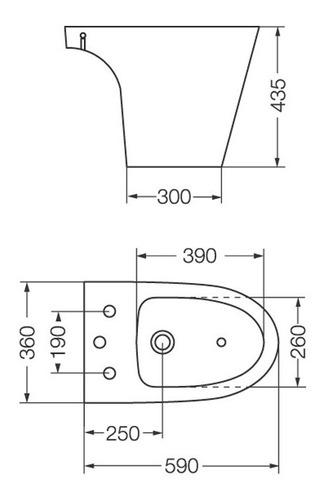 bidet de 3 agujeros modelo marina bha3j ferrum