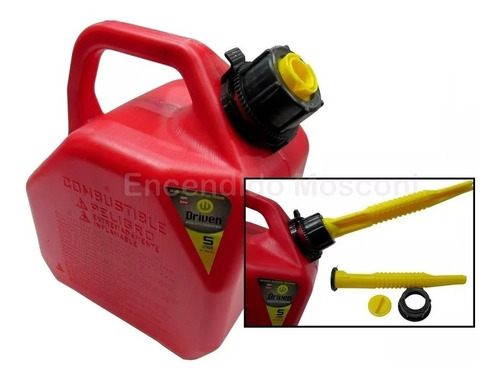 bidon combustible 5 lts nafta diesel pico vertedor