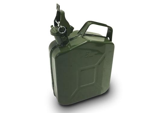 bidón combustible chapa 5litros + pico vertedor dosificador