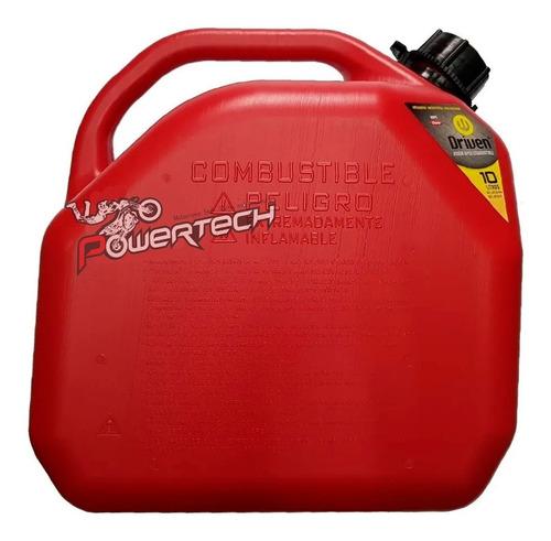 bidon combustible driven con pico vertedor motocross 10 litr
