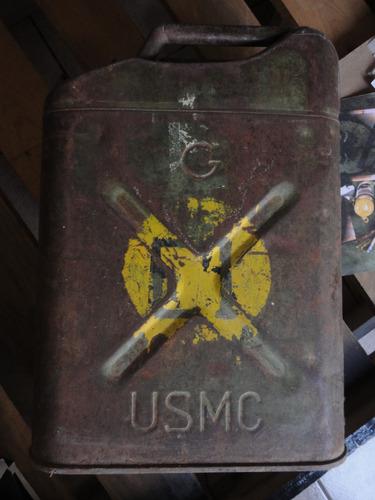 bidón combustible militar 1951 usado por u.s marines.