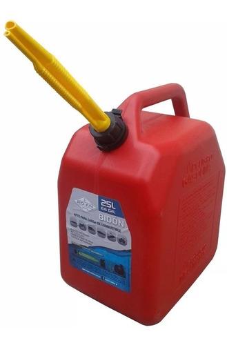 bidon de combustible 25 lts con pico vertedor (no envios)