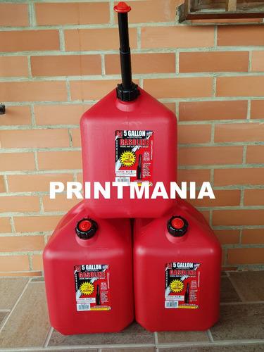 bidón de gasolina midwest cero derrames 19 litros