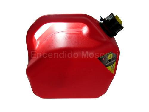 bidon de nafta - combustible 10 litros con pico vertedor