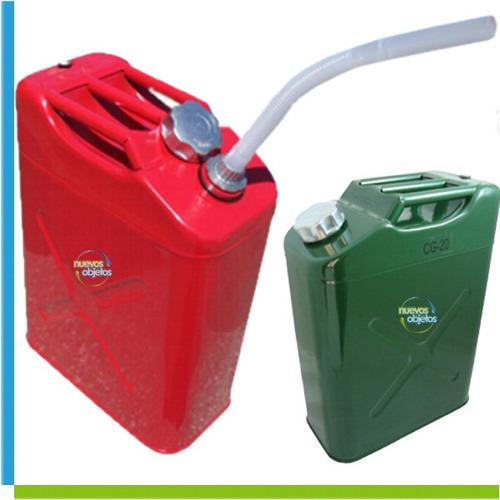 bidón metálico de 20l para combustibles nautica 4x4 autos
