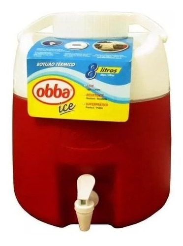 bidon obba termico  8 litros c/ canilla reforzado