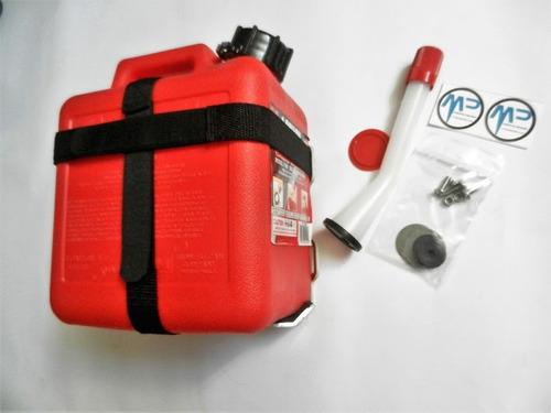 bidón y soporte de aluminio 3.9 litros motoperimetro