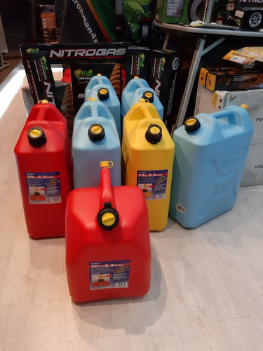 bidones de gasolina 20 litros  marca scepter