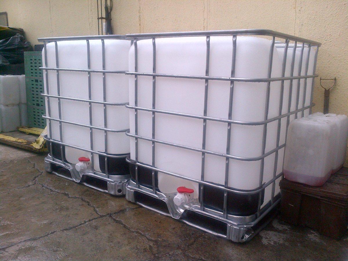 Bidones totes 1 000 litros seminuevos y nuevos for Bidones de 1000 litros