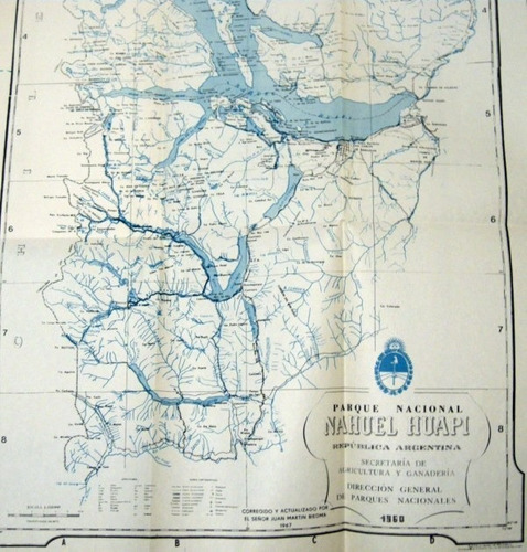 biedma toponimia parque nacional nahuel huapi con gran mapa