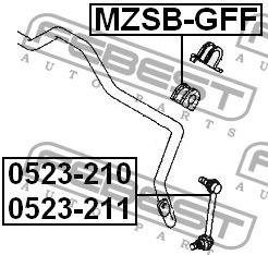 bieleta gemelo link huesito delantera  mazda 626 323 cx7