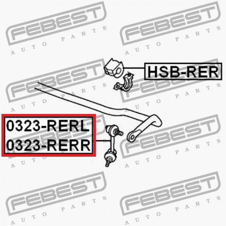 bieleta link huesito trasero rh honda crv 2007 - 2011  4x4