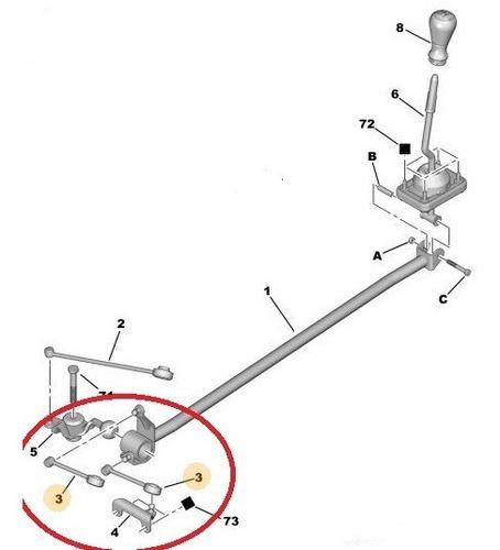 bieleta seleccion velocidades peugeot 206 - 207