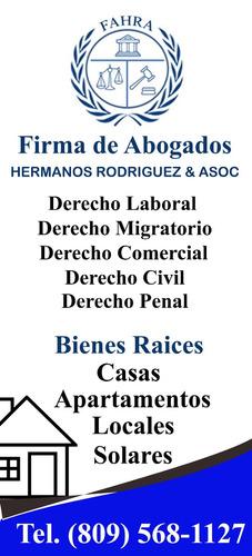 bienes raices, laboral, civil, comercial, penal, migratorio