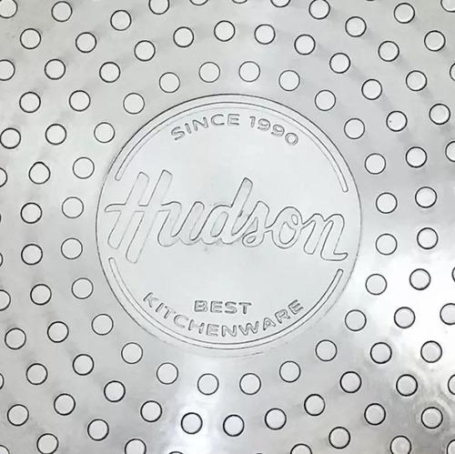 bifera aluminio 4mm apto induccion 24x24 cm teflon hudson