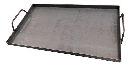bifera plancheta 630 x 370 x 3mm hierro hornalla parrilla mm