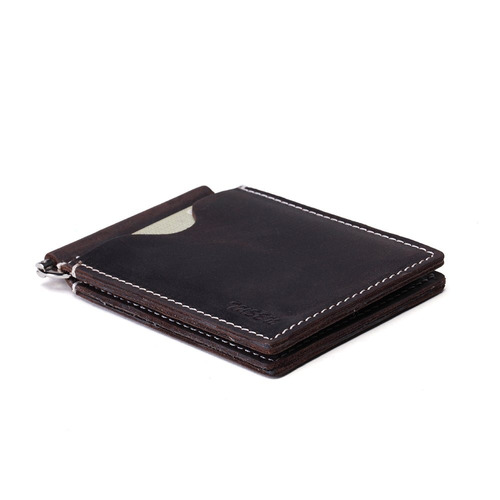 bifold cartera de cuero rfid delgado, cartera de bolsillo de