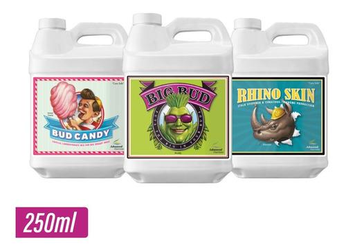 big bud + rhino skin + bud candy 250ml advanced nutrients