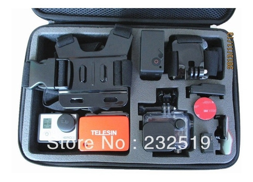 big case - gopro hero  5 - 6 - 7 - 33cm x 22cm x 6.5cm