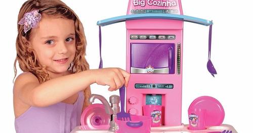 big cozinha infantil completa c/ acessórios